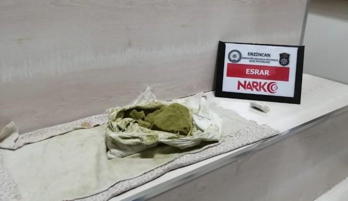 Erzincan'da 407 gram esrarla yakalanan 1 kişi tutuklandı