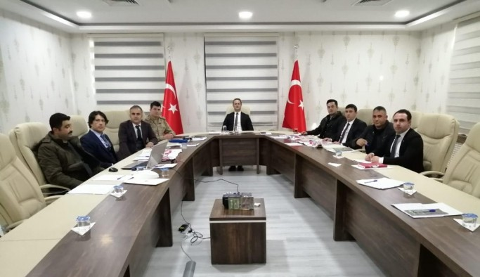 Malazgirt'te av komisyon toplantısı