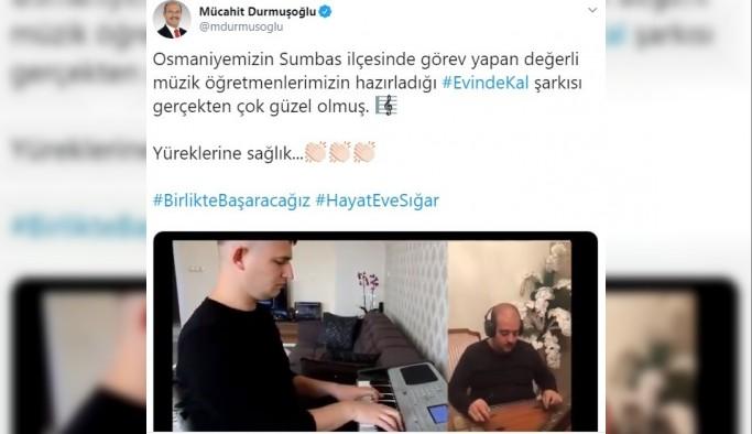 """Ak Partili vekilden """"EvindeKal"""" şarkısına destek"""