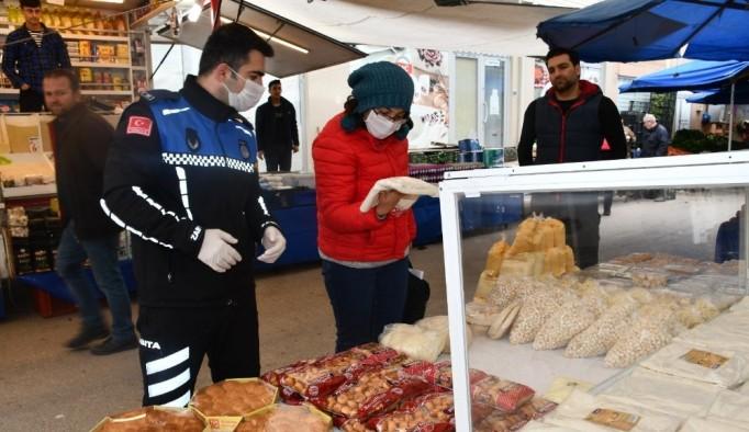 Kestel'de banka ve bankamatikler dezenfekte edildi