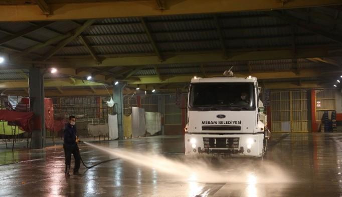 Meram Belediyesi Muhacir Pazarı'nda önlemleri artırdı