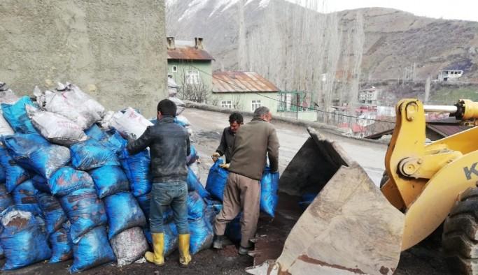 Şemdinli Belediyesinden temizlik çalışması