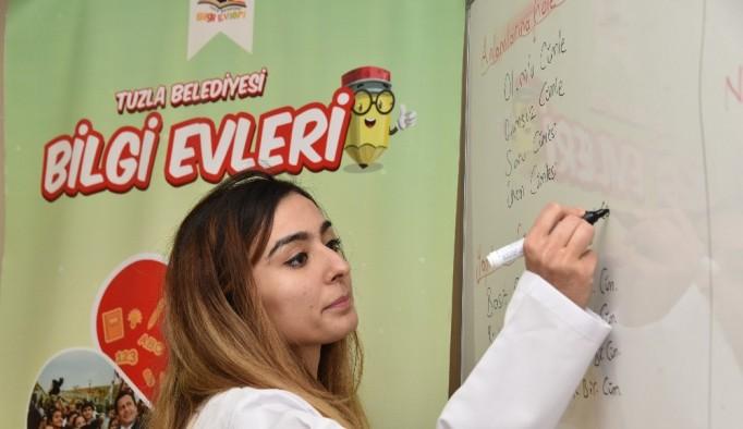 Tuzla Belediyesi'nden  üniversite ve lise geçiş sınavına hazırlanan öğrencilere internet üzerinden eğitim