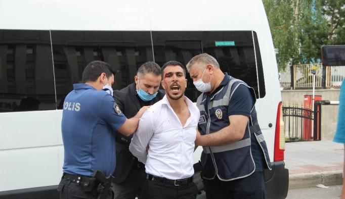 Erzurum Adliye önünde hesaplaşma