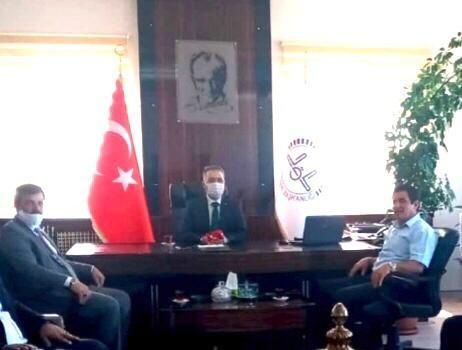 DİVA-SEN Erzurum Şubesi'nden Müftü Yıldırım'a ziyaret