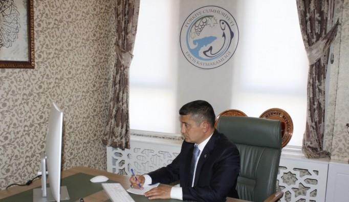 Kaymakam mehmetbeyoğlu, STK temsilcileriyle online toplantı yaptı
