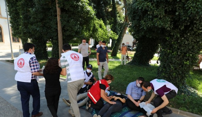 Menteşe Belediyesi çalışanlarına yangın ve deprem tatbikatı