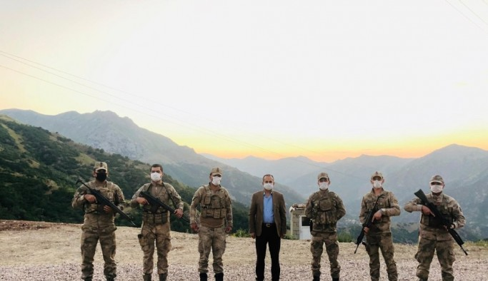 Başkan Saklı'dan Mehmetçik'e ziyaret