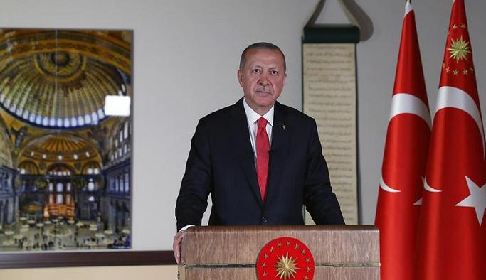 """Cumhurbaşkanı Erdoğan: """"24 Temmuz Cuma günü Ayasofya'yı ibadete açmayı planlıyoruz"""""""