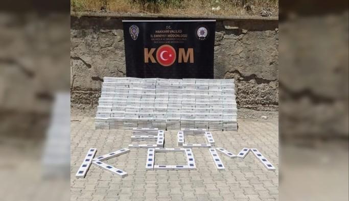 Hakkari'de 14 bin 190 paket kaçak sigara ele geçirildi