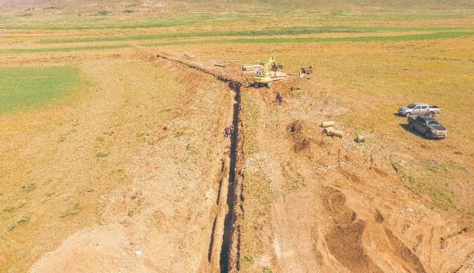 Sakalıkesik Ovası sulaması inşaatında çalışmalar                                                  hızla devam ediyor