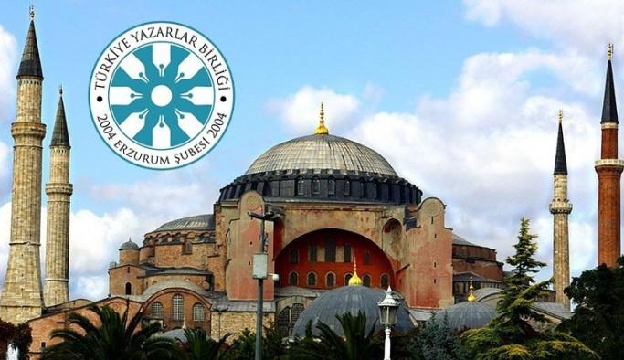 TYB Erzurum Şubesi'nden Ayasofya Cami teşekkürü