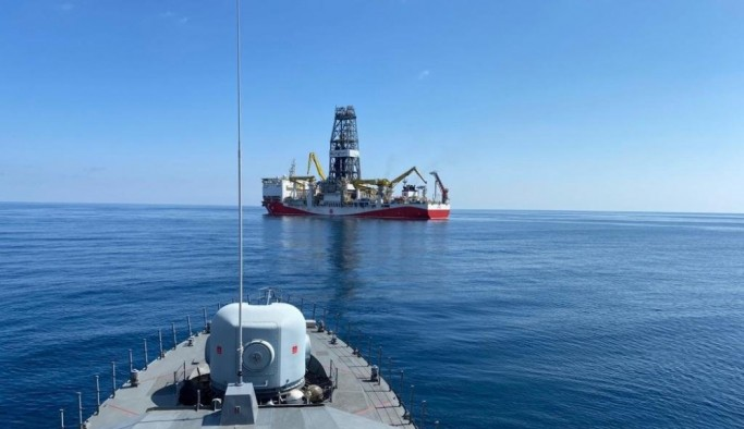 """MSB: """"Fatih, Yavuz ve Barbaros Hayreddin Paşa gemilerine refakat görevi kararlı bir şekilde devam ediyor"""""""