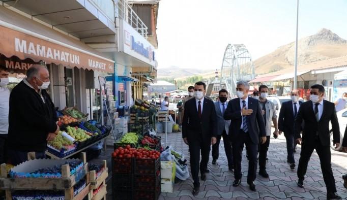 Vali Mehmet Makas, Tercan, Çayırlı, Otlukbeli ilçelerine ziyarette bulundu