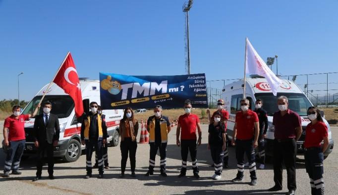 Erzurum'da Pandemi süreci112 ekiplerinin eğitimlerini durduramadı