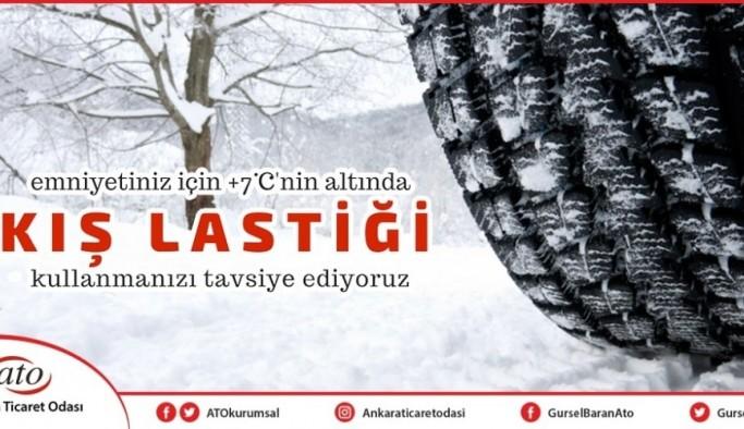 """ATO Başkanı Baran'dan kış lastiği uyarısı:  """"Trafik kazası 'kader' değil"""""""