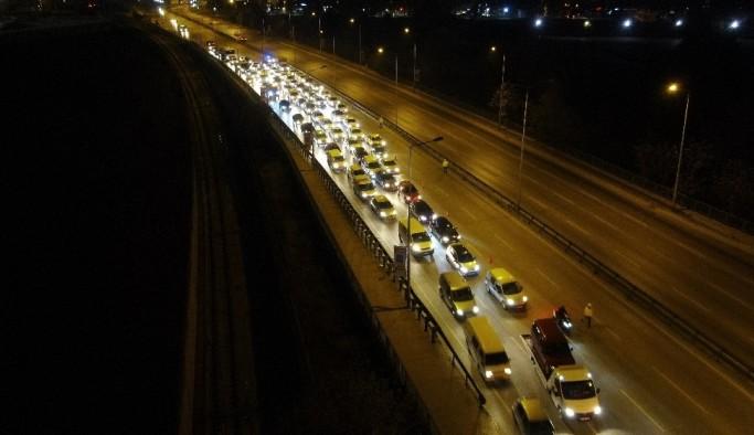 Bursa'da sokağa çıkma kısıtlaması drone ile havadan görüntülendi