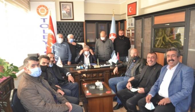 Toraman ve Sivaslı'ya tebrik ziyareti