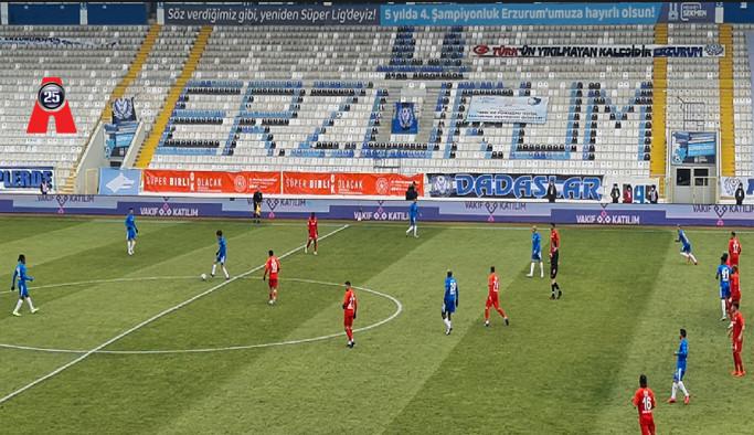 BAKLAVA TUZLU ÇIKTI; BB Erzurumspor: 1 - Gaziantep FK: 1