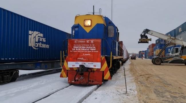 Türkiye-Rusya ilk ihracat blok treni seferini tamamladı