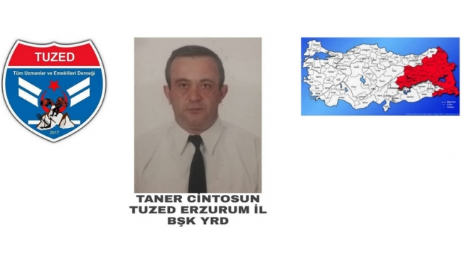 Taner Çintosun, TUZED Erzurum İl Başkan Yardımcılığına atandı