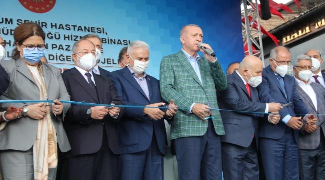 """Cumhurbaşkanı Erdoğan: """"""""Erzurum'u özlemişiz"""""""