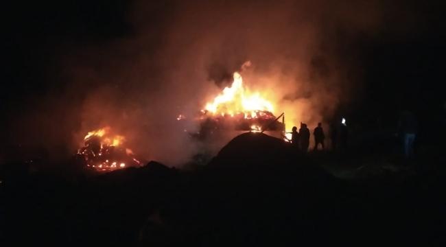 Erzurum'da alevler geceyi aydınlattı: 2 ev, 5 ahır ve 1 kiler kül oldu