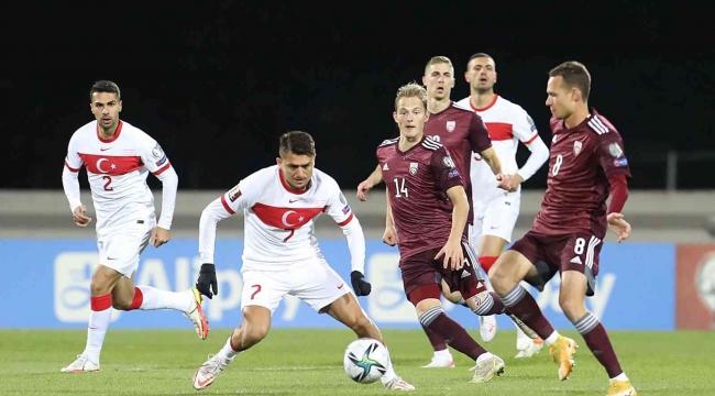 Son dakikada; Letonya: 1 - Türkiye: 2
