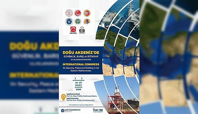 """""""Doğu Akdeniz'de Güvenlik, Barış ve İstikrar Uluslararası Kongresi"""" düzenlenecek"""