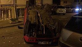 Kontrolden çıkan otomobil takla attı: 1 yaralı