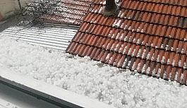 Malatya'da dolu yağışı etkili oldu