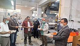 Bayramda çalışan aşçılara teşekkür ziyareti