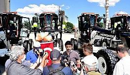 Malatya belediyesine yeni iş makineleri