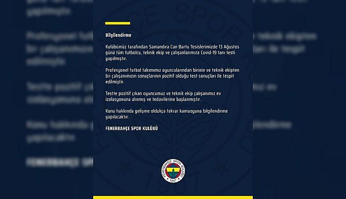 Fenerbahçe'de 2 pozitif vaka
