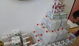 Derebucak'ta okullara hijyen malzemeleri dağıtıldı