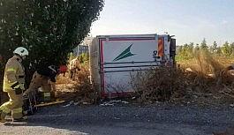 Freni boşalan kamyonetinin altında kaldı