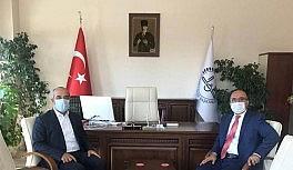 MŞÜ Rektörü Prof. Dr. Polat'tan müftü İmamoğlu'na ziyaret