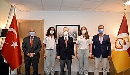 Naran Akkay ile Ruken Ülgey'den Başkan Mustafa Cengiz'e ziyaret