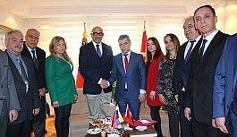 Venezuela Ankara Büyükelçisinden SANKON'a iade-i ziyaret
