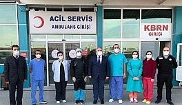 Sağlık çalışanlarına moral ziyareti