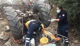 Takla atan traktör karı kocayı hayattan kopardı
