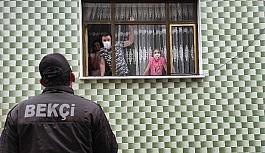 Korona virüs dedektifleri...Çat kapı dolaşıp karantina kaçaklarını aradılar