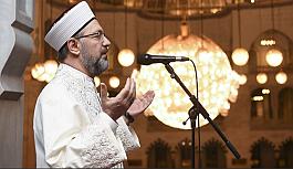 Diyanet İşleri Başkanı Erbaş Millet Camii'nde hutbe irad etti