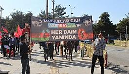 Azerbaycan'a destek için yürüdüler