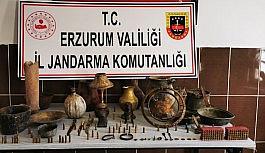 Erzurum'da tarihi eser kaçakçılık...